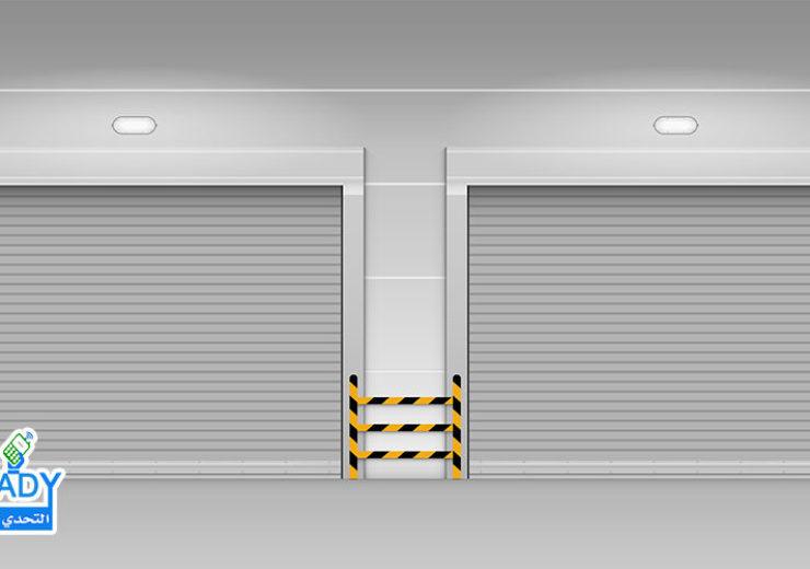 High speed rolling door, Shutter door, Vector, Illustration
