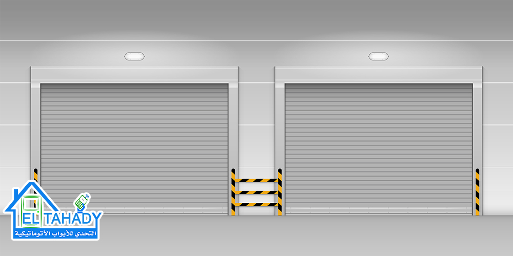 High speed rolling door, Shutter door, Vector, Illustration